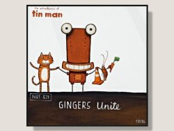 Gingers Unite by Tony Cribb Box Framed Artcard