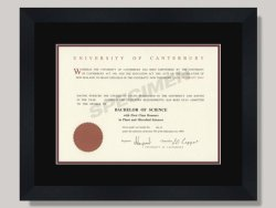 University of Canterbury Degree Frame