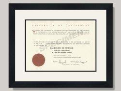 Canterbury University Degree Frame