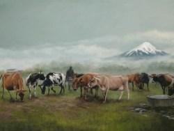 Taranaki Fields Of Gold by Julie Greig