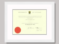 University of Otago Degree Frame