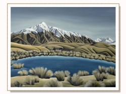 Mountain Tarn Stretched & Framed Canvas by Diana Adams