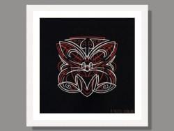 Pinstripe Hero Tiki by Otis Frizzell Framed Print