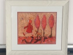 A Walk In The Woods Framed Print by Emma Louise Butler