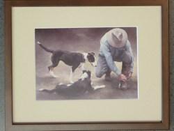 Hurry Up Boss Framed Art Card by Julie Greig