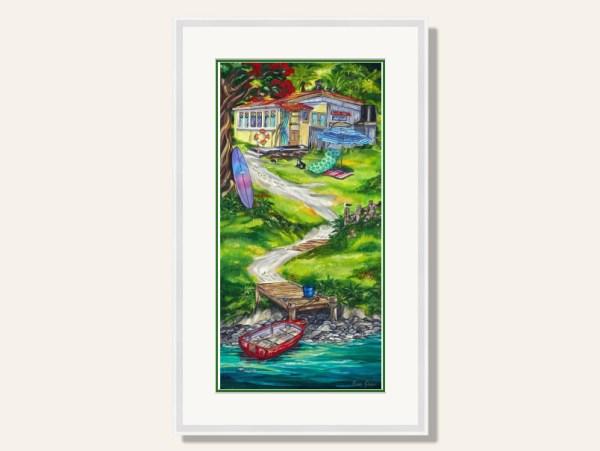 Summer Retreat Framed Print by Caren Glazer