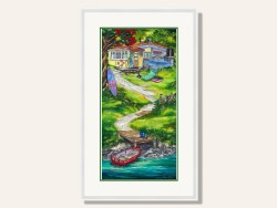 Summer Retreat Framed Print by Caren Glazer