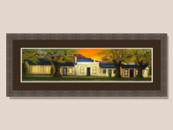 Arrowtown Miners Cottages Framed Print by Kassia Skiles