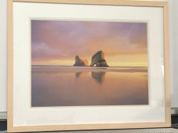 Archway Islands Wharariki Beach Golden Bay Framed Print by Rob Brown