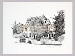 Peter G Leitch South Island Historic Houses Print 15/50 St Davids Street – Dunedin