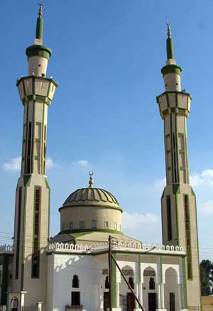 double minaret mosque