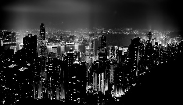 Hong kong from victoria peak taken in 2005 fromthepeakbw more black and white photography