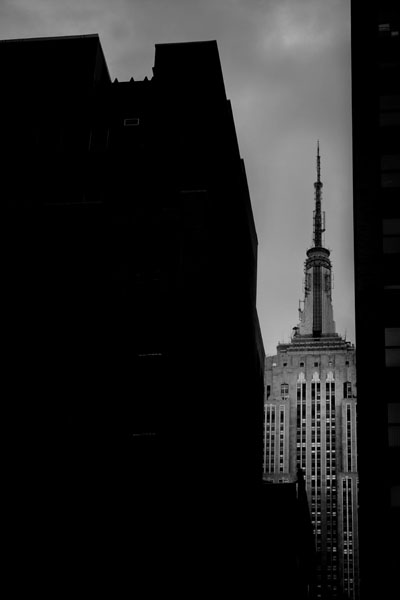 Empire State Building - Black and White