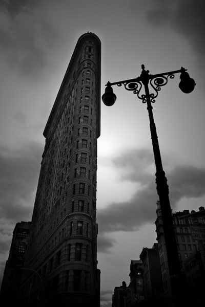 Flat Iron Building Black and White