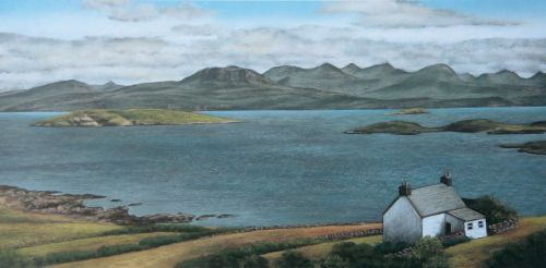 Harry's House (across Loch Broom from Polbain) - Scotland Landscape Painting