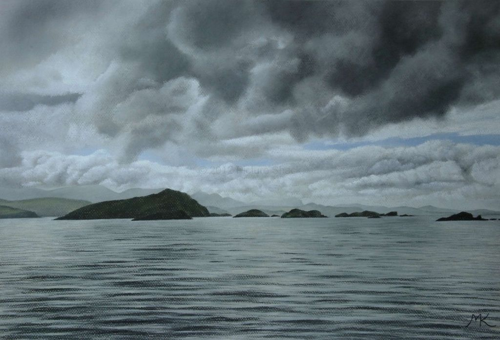 Storm Over The Summer Isles - Scotland Landscape Painting