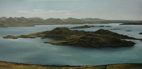 Tanera from the Mast Hill - Scotland Landscape Painting