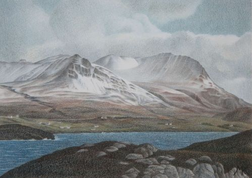 Winter in Coigach: View to the mainland from Tanera Mhor - Scotland Landscape Painting