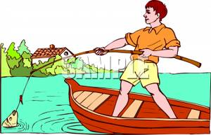 Image result for a hooked fish in a net images