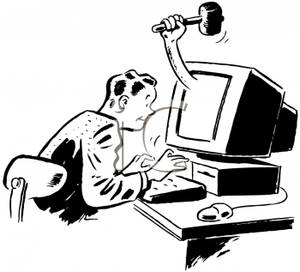 A Man Troubleshooting a Computer - Royalty Free Clipart ... (300 x 272 Pixel)