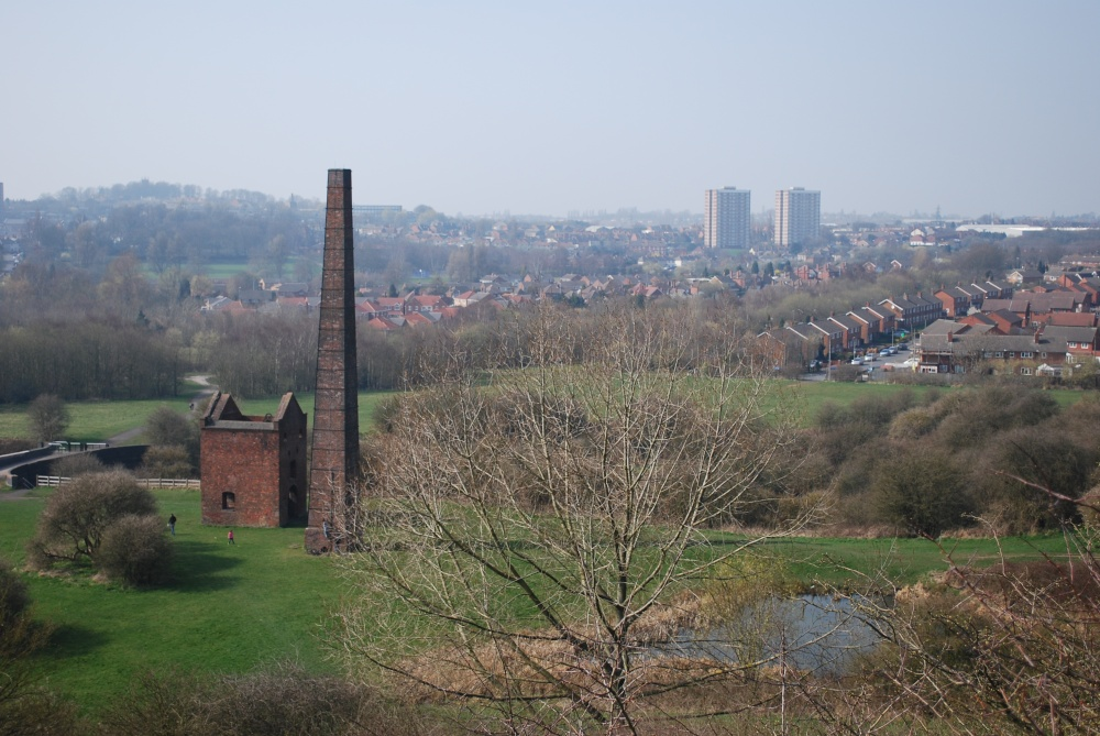Cobbs Engine house from Warrens Hall Park, by Stephanie Jackson.