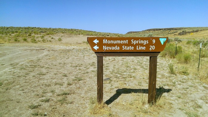Image of Monument Springs signpost