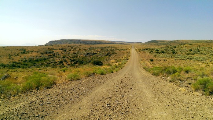 Image of gravel dirt road on the way to Mahannah's Cabin