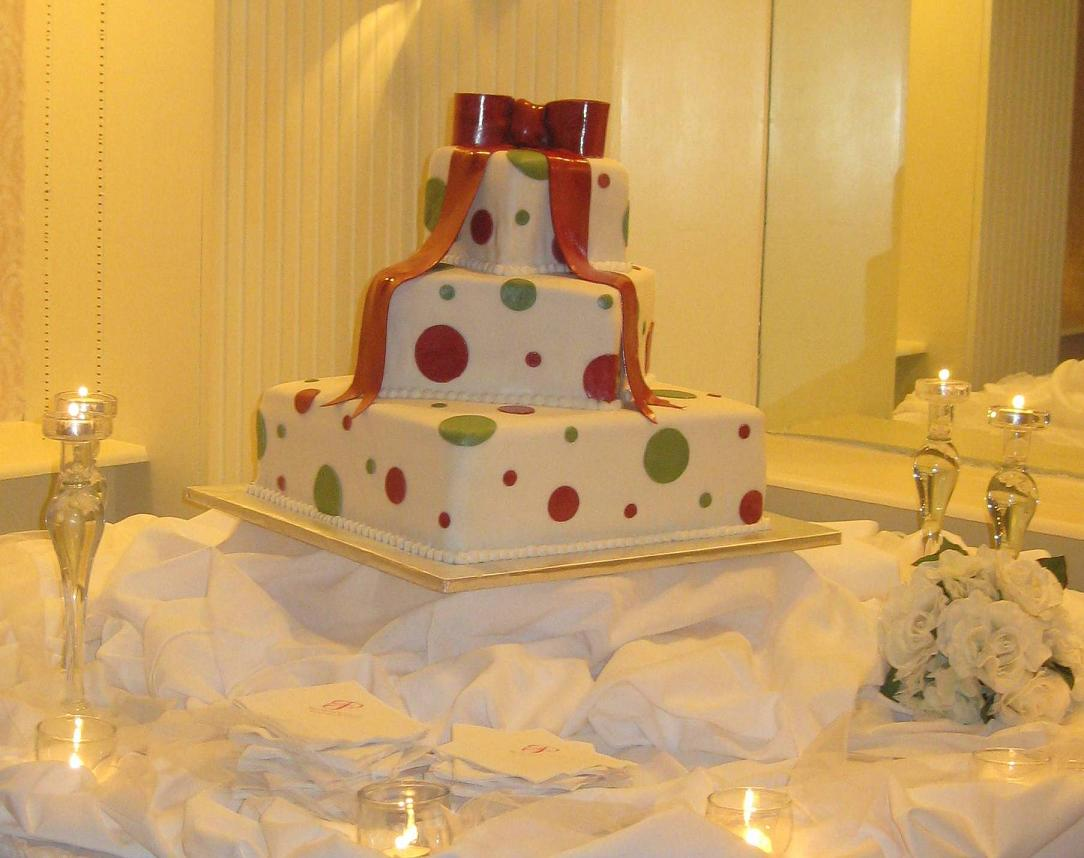 Wedding Cakes In Raleigh Pictures  Ideas  and Videos polka dot wedding cake image