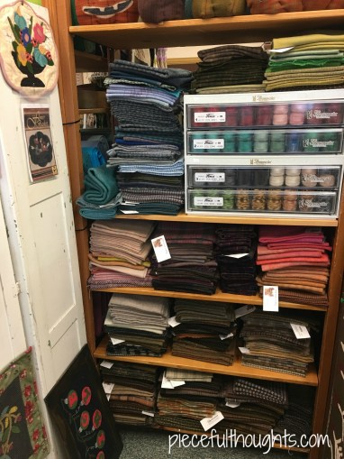 The Quilt Rack and Wool Cubby, piecefulthoughts.com