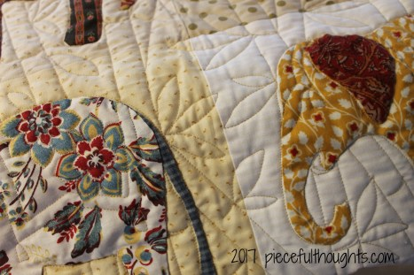 Friday Finish #3 - Elephant Quilt background detail (c) 2017 piecefulthoughts.com