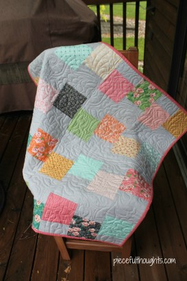 Batiks and Babies - SoJo's Quilt - piecefulthoughts.com