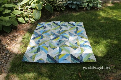 Batiks and Babies - lawn view - piecefulthoughts.com