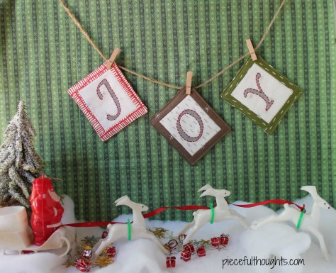 Mini Garland Tutorial - piecefulthoughts.com