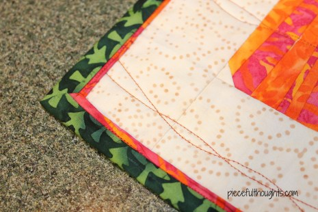 Tropical Pumpkins - bad flange binding - piecefulthoughts.com