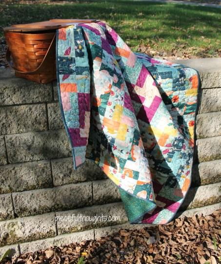 Wedding Quilt - Quilt kit from Hawthorne Threads using Maureen Cracknell's Garden Dreamer line - piecefulthoughts.com