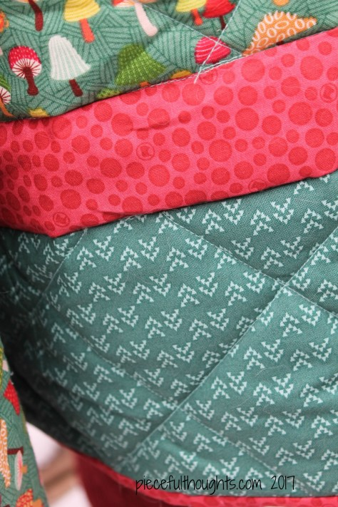 Molly's Quilt - the fabrics - piecefulthoughts.com 2017