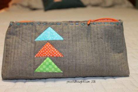 Another Little Project - Zippy Pouch, pattern by Karin Jordan and shown in The Quilter's Planner Pattern Supplement - piecefulthoughts.com 2018