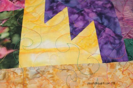 Flashback Friday - Thunderstruck Quilt, block and quilting detail - piecefulthoughts.com 2018