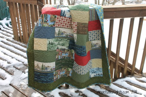 Minnesota Monday - Outdoor Photo of Minnesota Quilt - piecefulthoughts.com 2018
