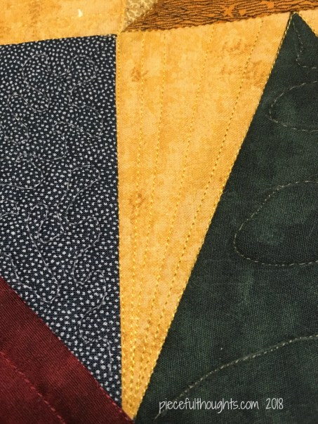 North Star Mini - quilting detail, walking foot - piecefulthoughts.com 2018