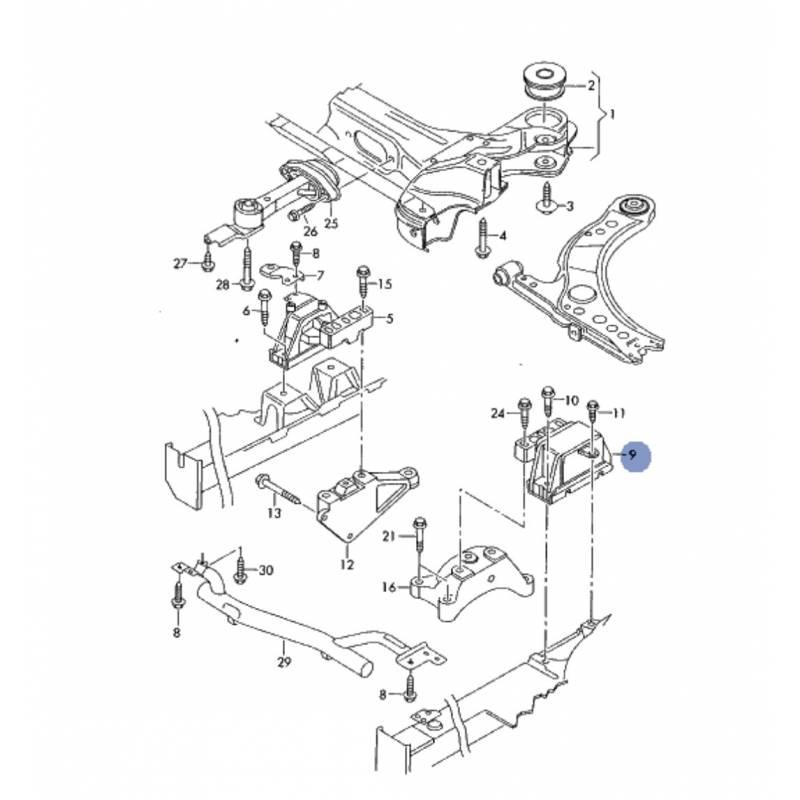 3374 support bearing gear box ref 8n0199555c