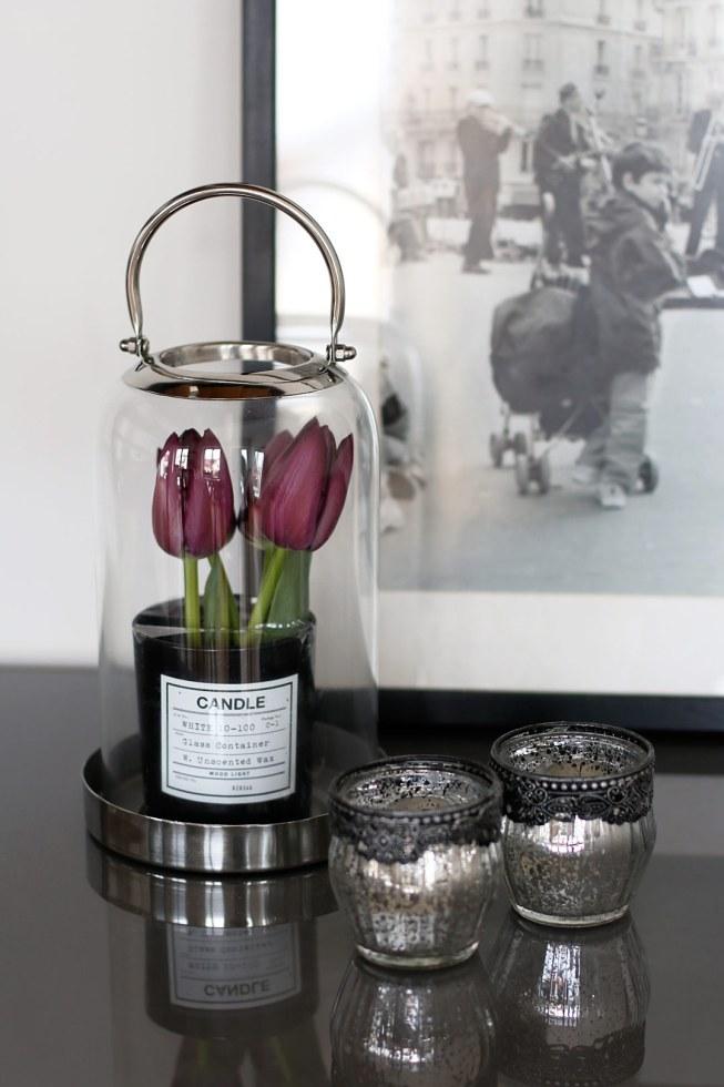 Tulpen in Kerzenglas