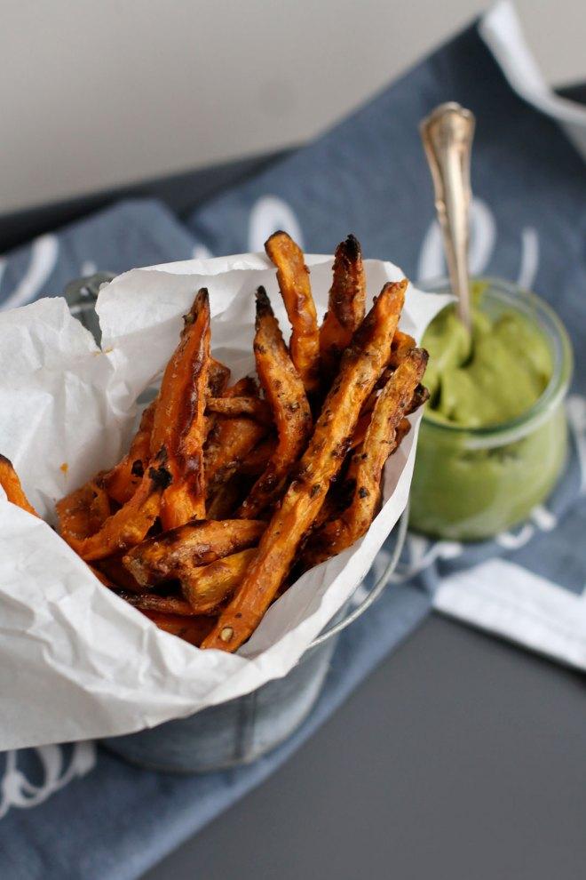 Rezept für selbstgemachte Süßkartoffel Pommes