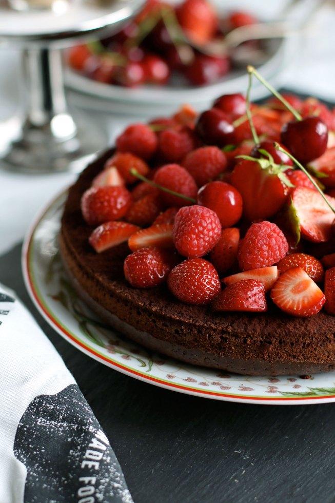 Rezept Schokoladenkuchen mit Beeren