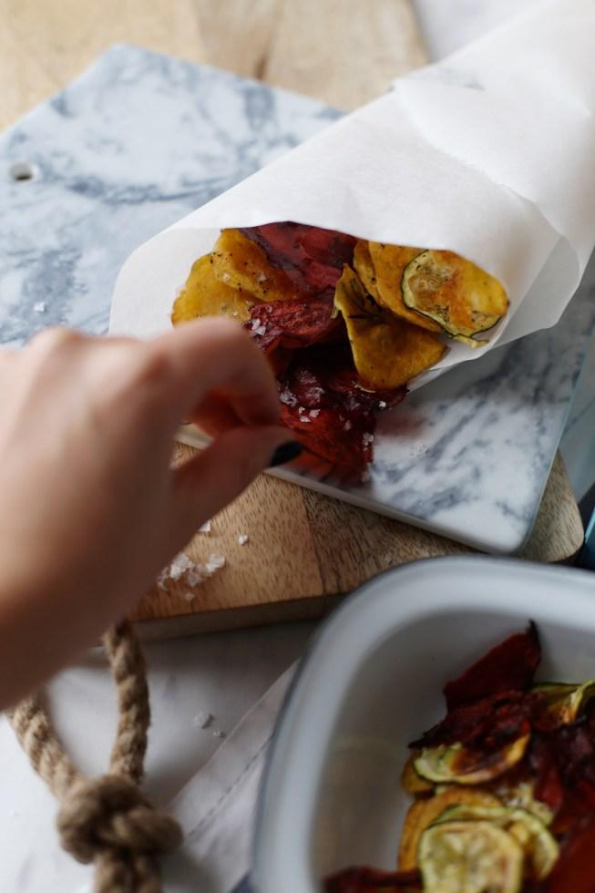 Gesunder Snack: Selbstgemachte Gemüsechips