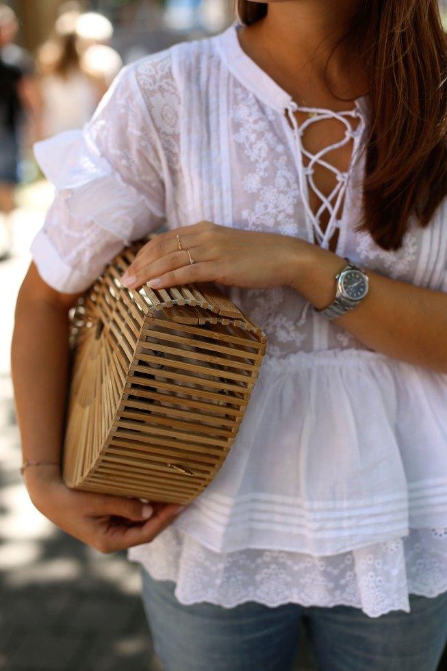 Meine Sommerliebe - Satin Sandalen und Cult Gaia Tasche