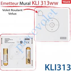 Velux France Kli313 Emetteur Mural Radio Io Kli 313 Ww Pour Volet Roulant Velux