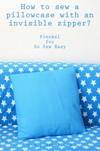 Invisible Zipper Pillowcase Tutorial