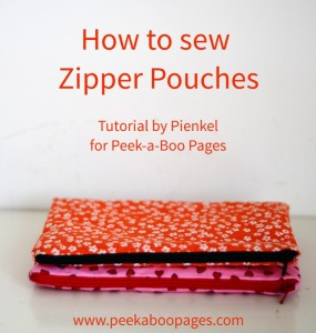 How to sew a Zipper Pouch - Tutorial by Pienkel