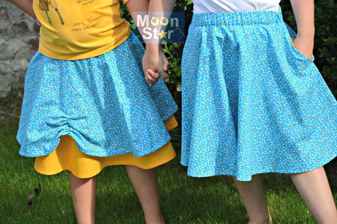 DYYNI skirt pattern, sz 2y-16y, designed by Pienkel. Sewn by Patricia. www.pienkel.com